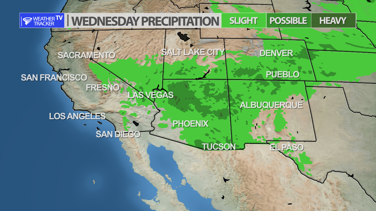 Weather Tracker TV National Forecast Map